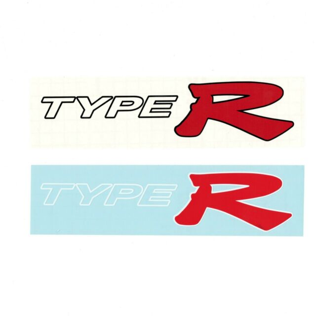 Vinyl Racing Decal Sticker For Type R Logo Honda Civic