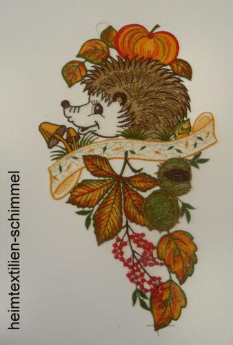Plauener punta ® ventana imagen otoño ventana decoración erizos niños calabaza bosque