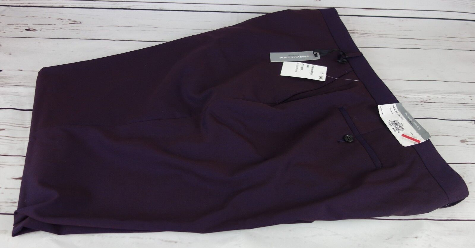 New Shaquille O'Neal Collection Men's Solid Big And Tall Pants Wine 50W