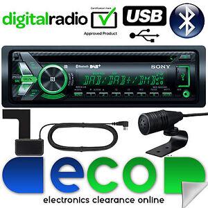 Radio-DAB-SONY-MEX-N6001BD-55x4W-Bluetooth-CD-MP3-USB-Automovil-Estereo-amp-Antena-REFURB