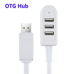 Speed-3-Ports-Charger-OTG-Hub-USB-Adapter-Converter-Cable-Extension-Splitter