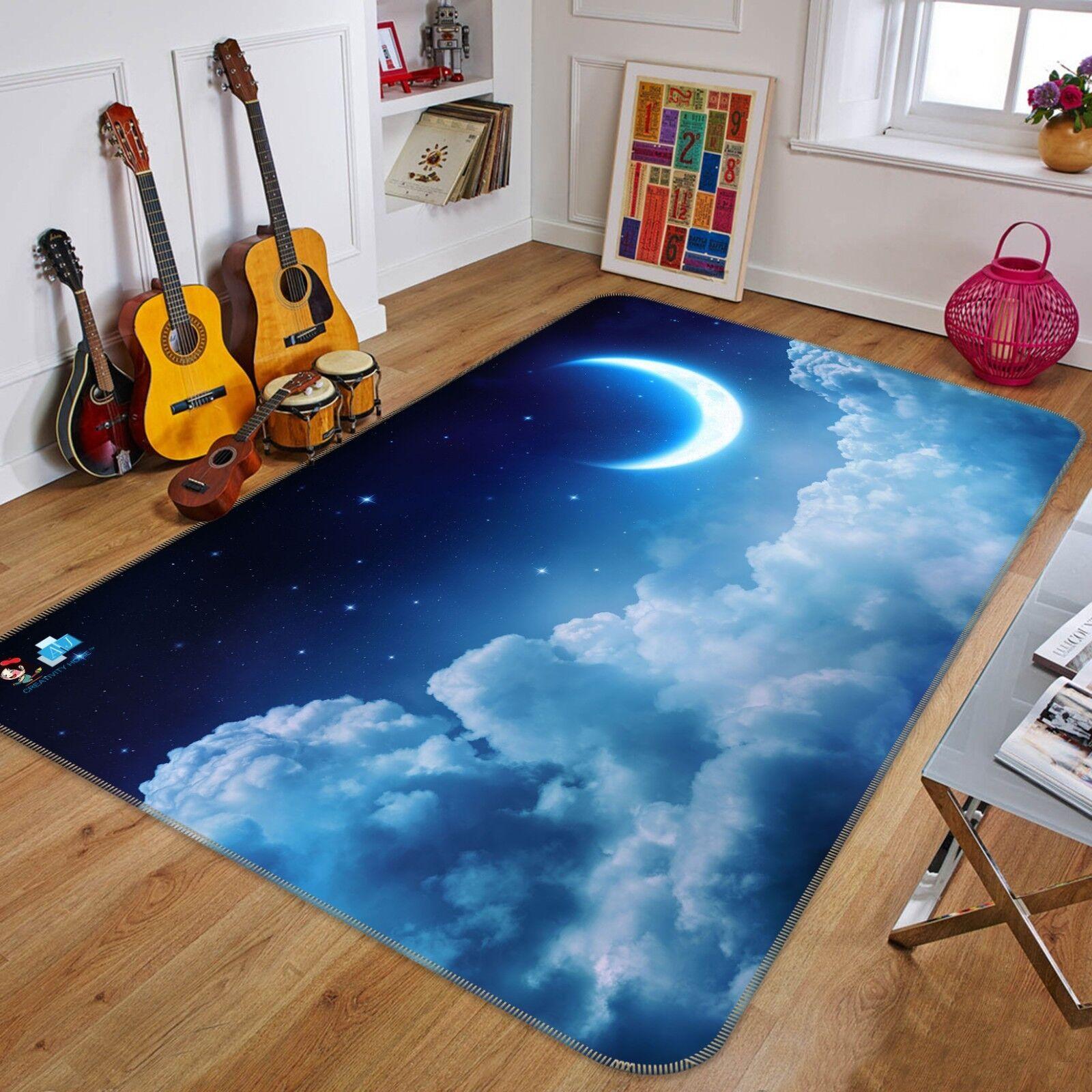 3D CIELO STELLATO MOON 889 tappetino antiscivolo tappeto camera Tappetino Qualità Elegante foto Tappeto UK