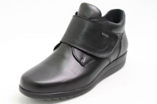 Ara Chaussures en Cuir Noir Gore-Tex Chaussure Largeur H Fermeture Velcro