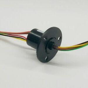6Pin-Mini-Schleifkontakt-Stromabnehmer-Schleifring-12-5mm-2A-300RPM-Gimbal-usw