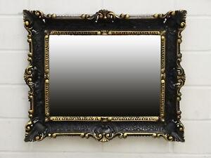 Miroir Mural Or Noir Repro Baroque De Sale Bain Sur Pied Pour