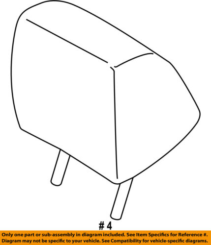 FORD OEM 15-16 F-150 Front Seat-Headrest Head Rest FU5Z96611A08BA