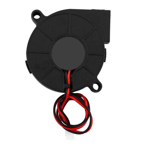 50mm DC 12V//24V Brushless Blow Radial Cooling Fan Air Blower For 3D Printer Part
