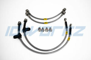 FRONT HEL Conversion Brake Lines Hoses For Audi A4 B5 /& Porsche Calipers