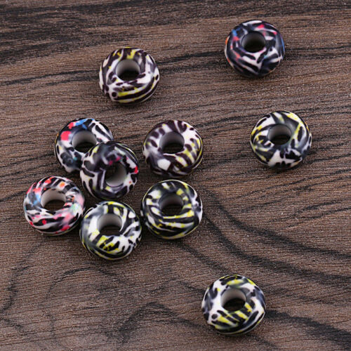 10 Pcs  Acrylic Beads Pendant For DIY Bracelet Necklace Jewelry Marking Craft