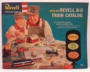 Revell-H-O-Electric-Trains-1959-60-1960-Train-Railroad-Track-Catalog-Magazine