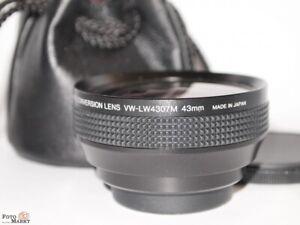 Panasonic-Weitwinkel-Converter-VW-LW4307M-43mm-Lente-Ampio