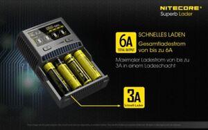 Nitecore-SC4-4-Schacht-Schnellladegeraet-fuer-LiIon-LiFePO4-amp-NiMH