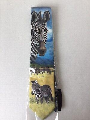 Ralph Marlin Zebra Men/'s Neck Tie African Black White Striped Animal Necktie