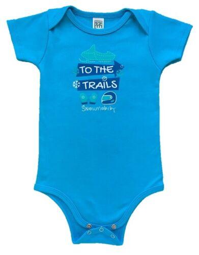 Snowmobaby Blue Infant Snowmobile One Piece Baby Boy Organic Newborn to 24m