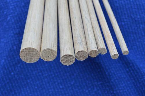 10pcs 15 mm x 30 cm chêne Goujon en bois tige = 3 M £ 4.13 par mètre