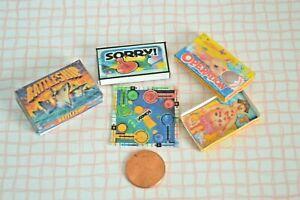 Dollhouse-Miniature-3-Game-Board-Battleships-Operation-Sorry-1-12-scale-set