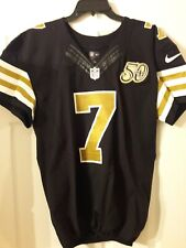 Luke McCown 2016 NEW ORLEANS SAINTS GAME USED JERSEY S 42 50TH ANNIVERSARY PATCH