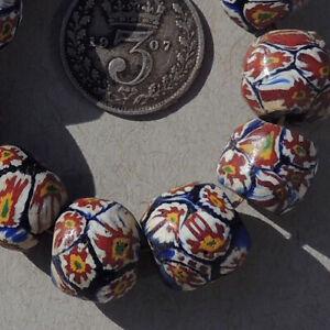 10-old-antique-venetian-round-millefiori-african-trade-beads-4830