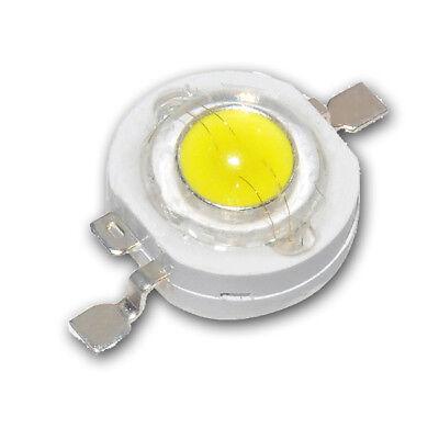 1 Stück 1W Power LED weiß 6500-7000K Imax=350mA Uf=3,2V 110 lm Star
