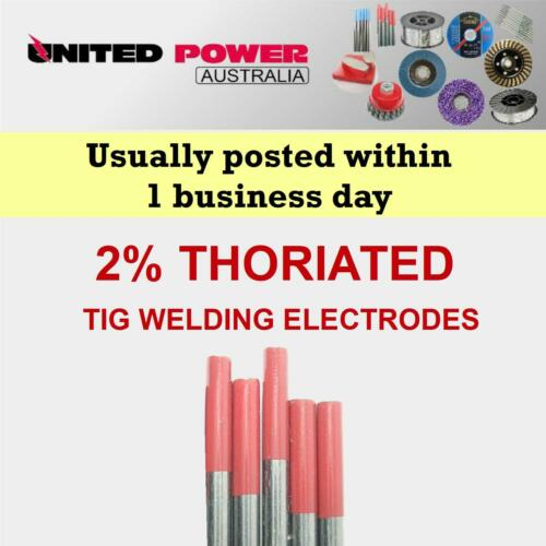 10 pc 1.6mm X 175mm  2/% Thoriated Tungsten TIG Electrode  *TOP QUALITY*
