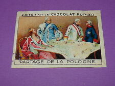 CHROMO CHOCOLAT PUPIER EUROPE 1932 POLOGNE PARTAGE DE LA POLOGNE