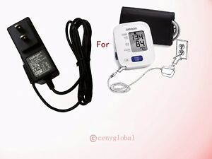 6V AC Power Adapter For Omron Digital Upper Arm Automatic Blood Pressure Monitor