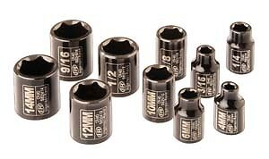 "Ingersoll Rand  Sk2C10 1/4"" Drive Sae And Metric Impact Socket Set"