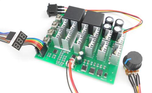 dc motor speed regulation switch two-way reversing switch 12v24v36v48v digital