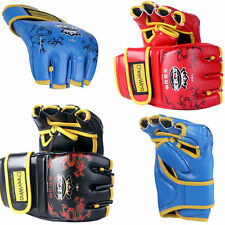 PU Leather MMA UFC Half Finger Boxing Gloves Fighting Sandbag Gloves Punch Mitts