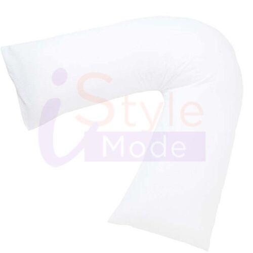 Orthopaedic Pillow Nursing Maternity Back Support V Shape Pillow And White Case