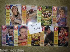 Magazine Ratgeber Frau und Familie,Jahrgang 2001(9 Hefte)Kochen/Backen,Gesundhe