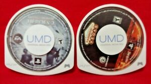 Rainbow Six Vegas + Medal of Honor Heroes Sony PSP Game Lot Playstation Portable