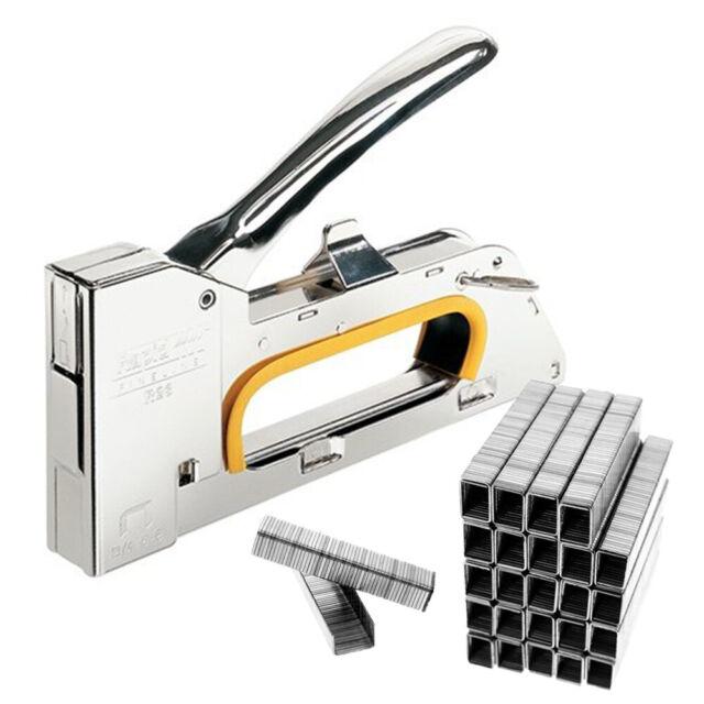 UK Heavy Duty Nailer Tacker 4//6//8mm Staple Gun Upholstery Stapler 2500 Staples