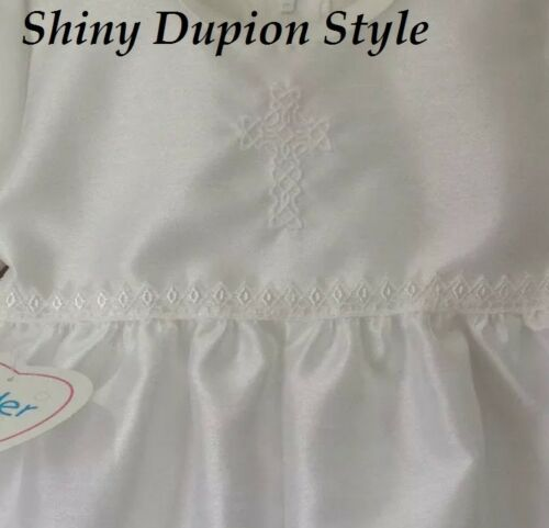 BABY BOYS WHITE CHRISTENING ROMPER OUTFIT SUIT WITH CAP CELTIC CROSS BAPTISM