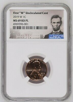 """2019 W 1c First /""""/""""W/""""/"""" Uncirculated Cent NGC MS69RD PL Brown Label"""