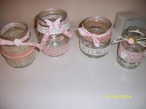 Vintage Hochzeit Deko Glaser Tischschmuck Vasen In Rosa 10 Teilig