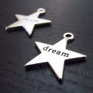 Dream-Charms-23mm-Antiqued-Silver-Plated-Star-Pendants-C2813-10-20-Or-50PCs