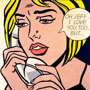 18 postales y 18 Sobres-Tarjetas De Arte Roy Lichtenstein
