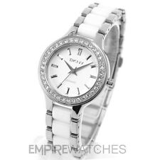 **NEW** DKNY LADIES CHAMBERS WHITE CERAMIC WATCH - NY8139 - RRP £185.00