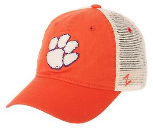 CLEMSON-TIGERS-NCAA-ORANGE-MESH-SLOUCH-TRUCKER-SNAPBACK-Z-WASHED-CAP-HAT-NWT