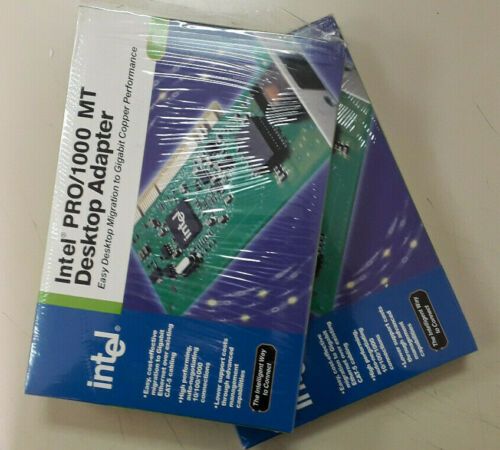 Lot of 2 Pcs! of Intel Pro 1000 MT Desktop Adapter PWLA8390MT 847256