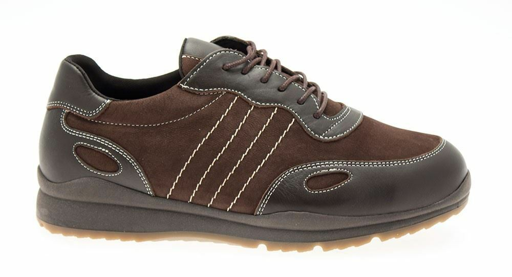 DB Seb Wide Fit Trainer shoes Brown (UK7 UK8 UK9 UK10 UK11 UK12 UK13 UK14 UK15)