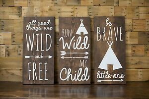 Tribal Nursery Wood Signs Home Decor Baby Shower Gift Tribal