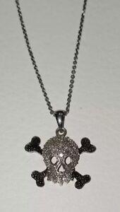 49c470f7c Image is loading Kays-Kay-Jewelers-sterling-silver-Skull-crossbone-diamond-