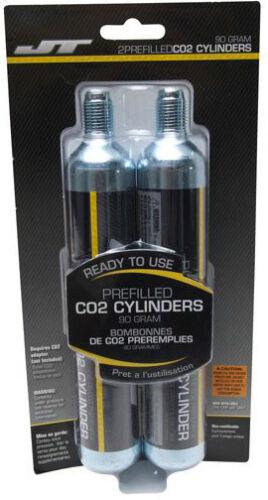 2-Count JT 90g CO2 Cylinders Cartridges Crosman 88g Airsource 90 88 gram