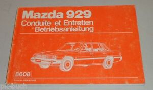 Operating-Instructions-Handbuch-Conduite-et-Entretien-Mazda-929-Hb-Stand-1984