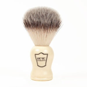Parker-Synthetic-Hair-Shaving-Brush-with-Faux-Ivory-Handle