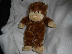 "teddy mountain TAN BROWN MONKEY APE PLUSH 10"" denmark baby lovey soft stuffed"