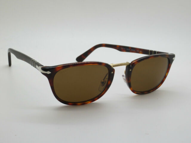 fd8e7770e2 PERSOL 3127-S 24 57 Typewriter Edition Havana Tortoise Polarized 52mm  Sunglasses