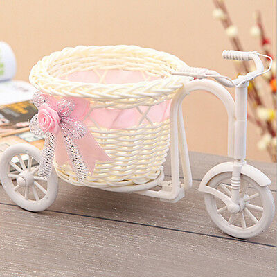 Rattan Basket of Bicycle Wedding Party Home Decoration